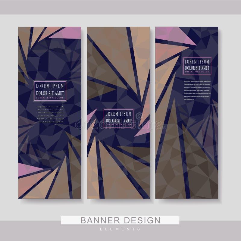 Diseño determinado de la plantilla moderna de la bandera stock de ilustración
