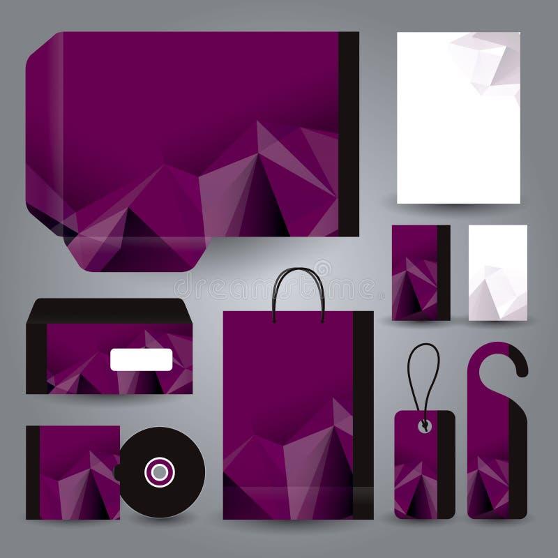 Diseño determinado de los efectos de escritorio/plantilla determinada de los efectos de escritorio stock de ilustración