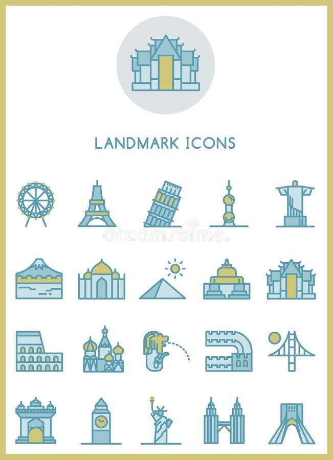 Diseño determinado de los iconos de la señal libre illustration
