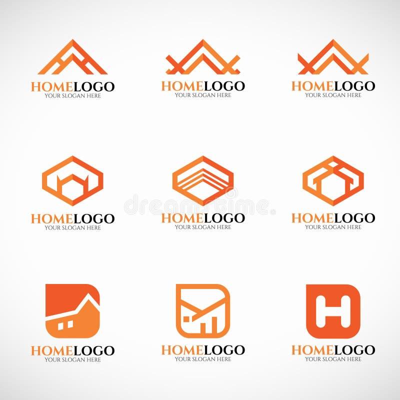 Diseño determinado del arte del vector casero anaranjado del logotipo ilustración del vector