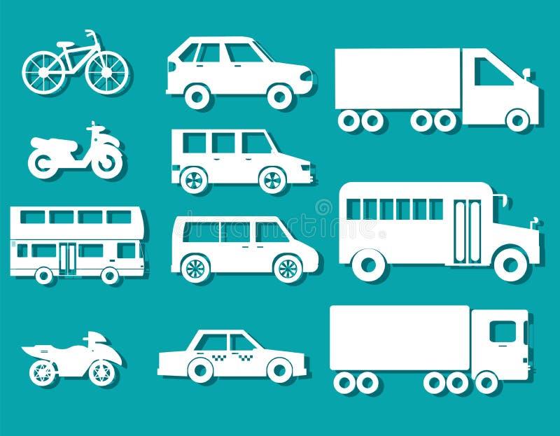 Diseño determinado del ejemplo de los fondos del icono del concepto de los coches planos Plantilla para el web y el móvil ilustración del vector