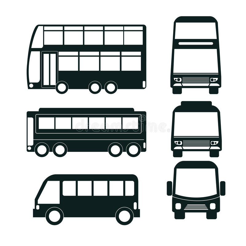 diseño determinado del icono del autobús stock de ilustración