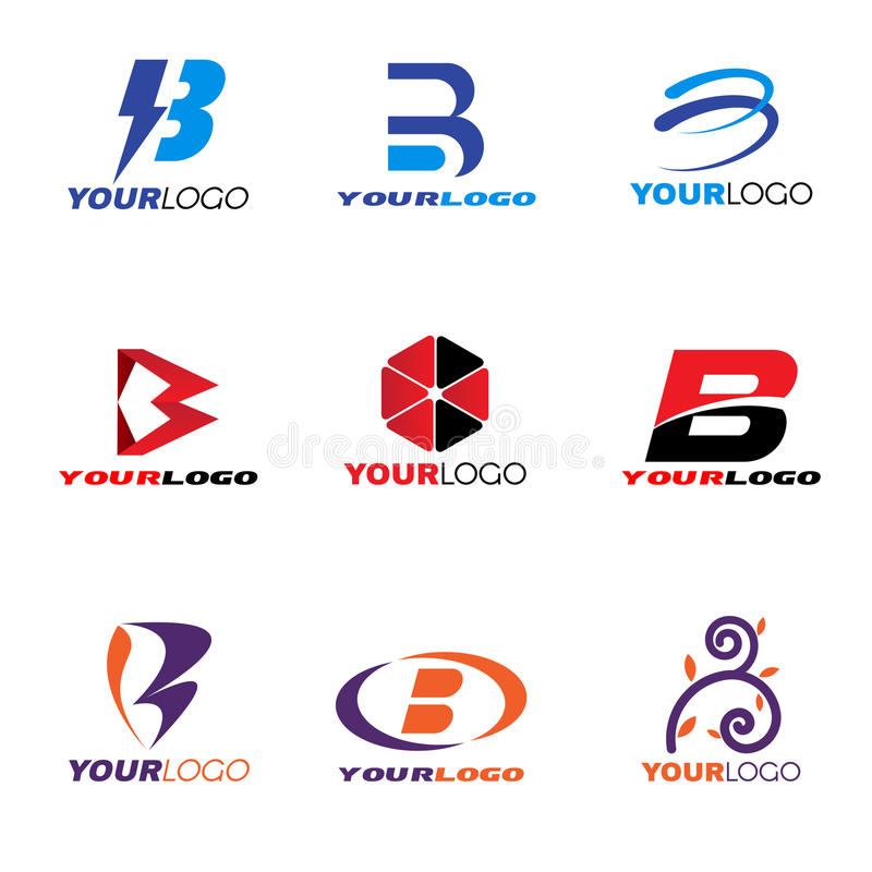 Diseño determinado del vector del logotipo de la letra B libre illustration