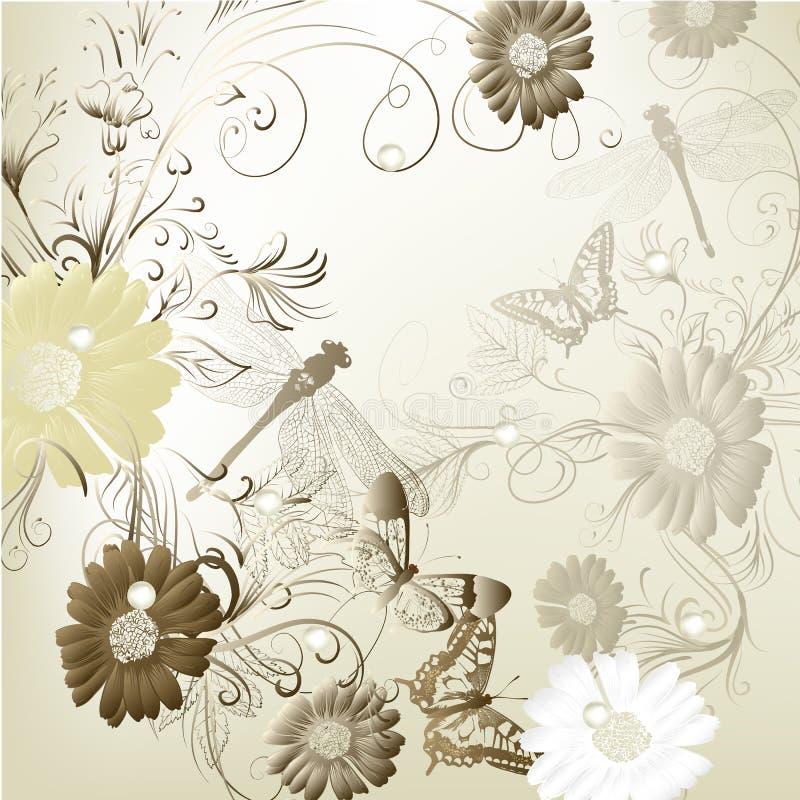 Tarjeta elegante de la invitación de la boda para su diseño stock de ilustración