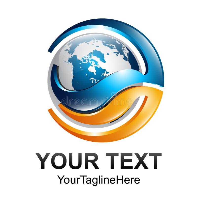 Diseño digital abstracto creativo t del logotipo del vector de la tecnología de la esfera ilustración del vector