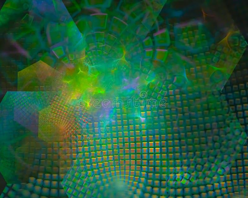 diseño digital del misterio de la ciencia abstracta del fractal, fantasía del partido, imaginación imagenes de archivo