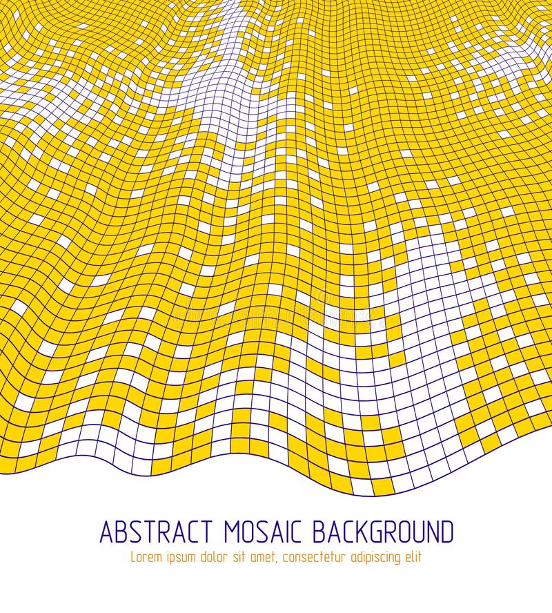 Diseño dimensional del vector de tejas cuadradas del gran mosaico artístico ilustración del vector