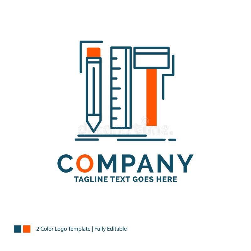 Diseño, diseñador, digital, herramientas, lápiz Logo Design Azul y O ilustración del vector