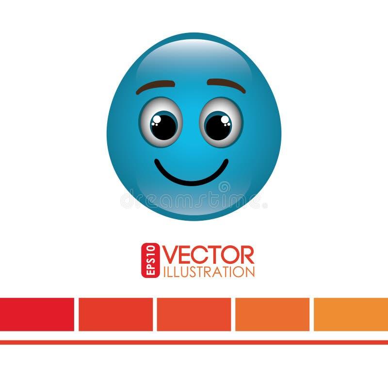 diseño divertido del emoticon stock de ilustración