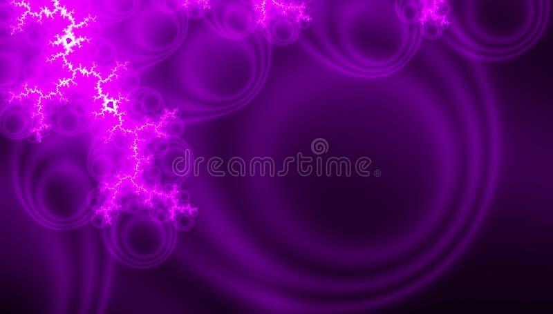 Diseño elegante de la onda Visualización ultravioleta y púrpura del fractal Fondo de la tarjeta de felicitación o invitación de l ilustración del vector
