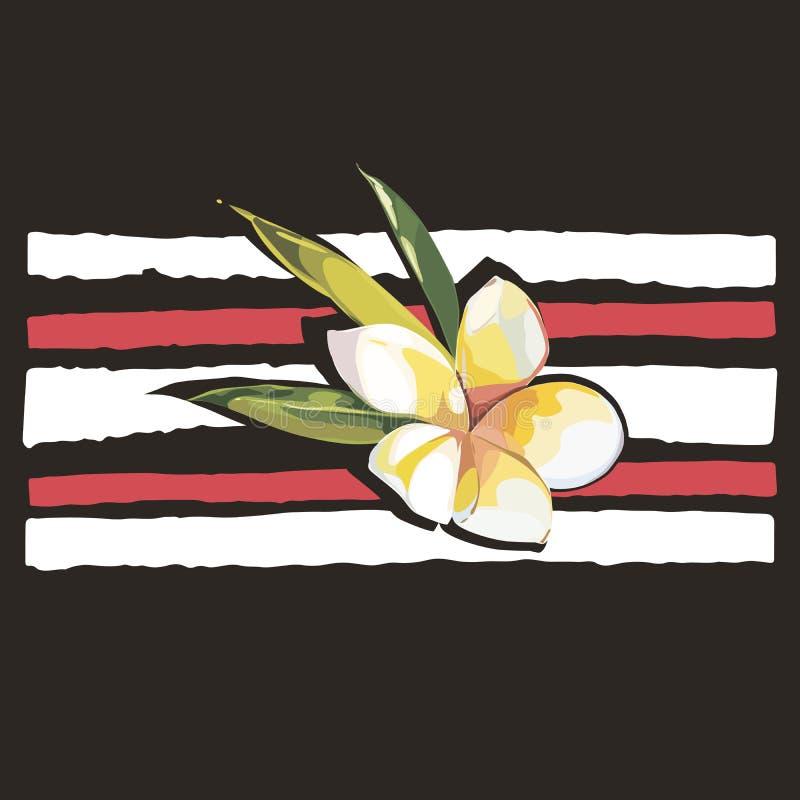 Diseño elegante y rayas del lema Estilo del vintage de la impresión de la camisa del poder de la muchacha libre illustration