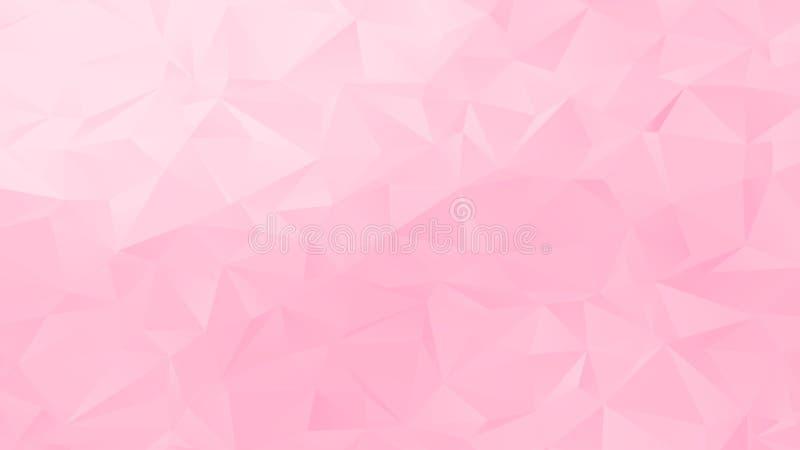Diseño en colores pastel de Pale Pink Low Poly Backdrop ilustración del vector
