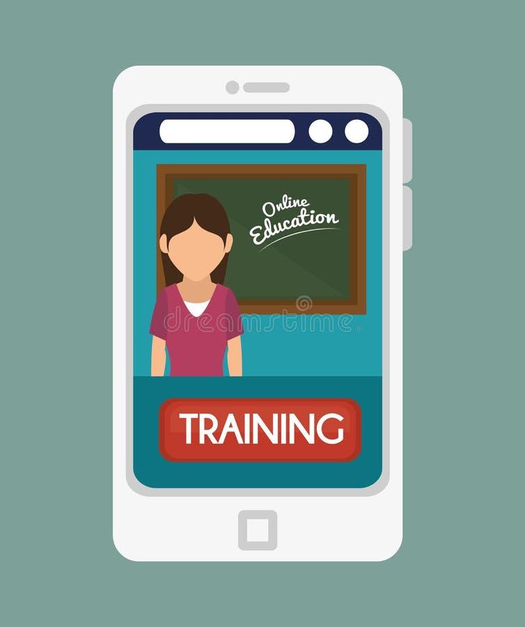 Diseño en línea de la educación libre illustration
