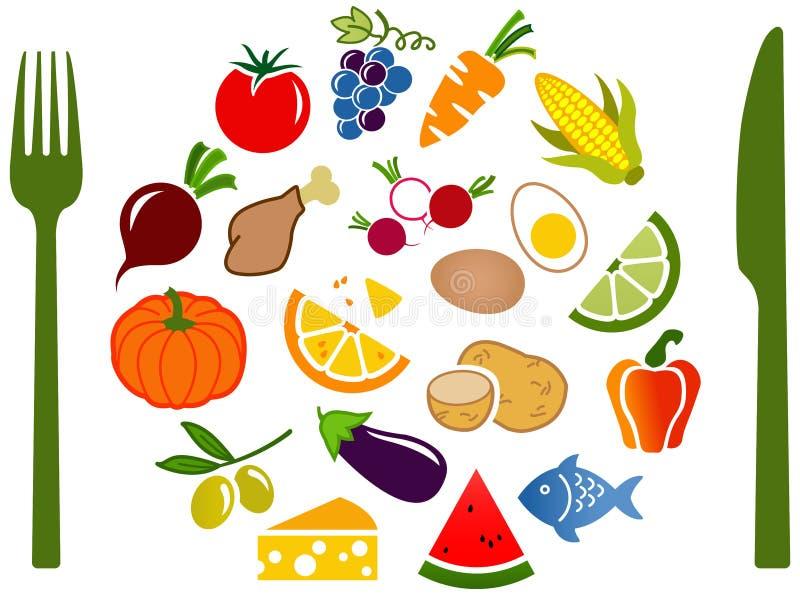 Diseño equilibrado/bajo de FODMAP de la dieta ilustración del vector