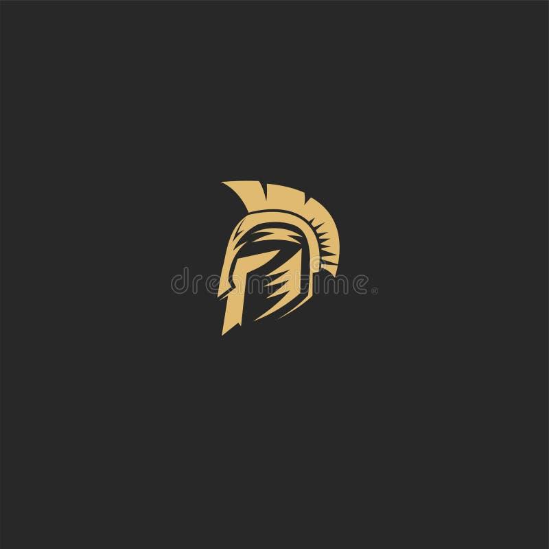 Diseño espartano de oro del ejemplo del vector ilustración del vector