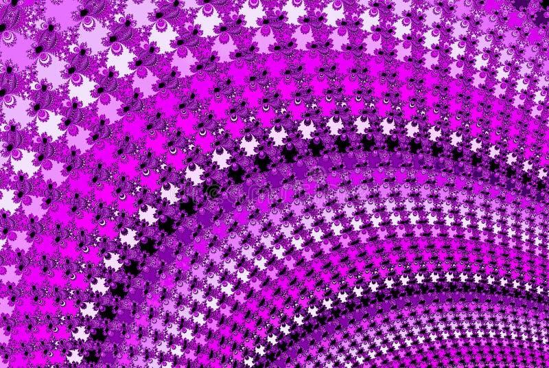 Diseño espiral violeta del fractal en tintes púrpuras ilustración del vector