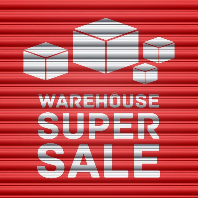 Diseño estupendo de la venta de Warehouse ilustración del vector
