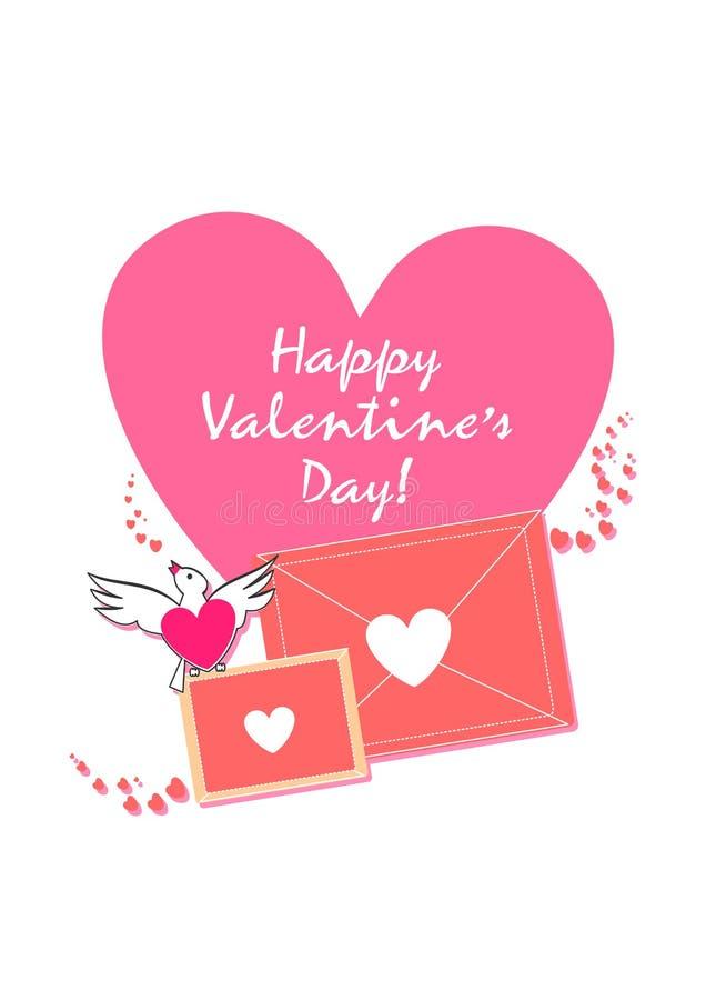 Diseño exclusivo feliz de día de San Valentín Amor y vida Sea mi tarjeta del día de San Valentín La tarjeta de la tarjeta del día stock de ilustración