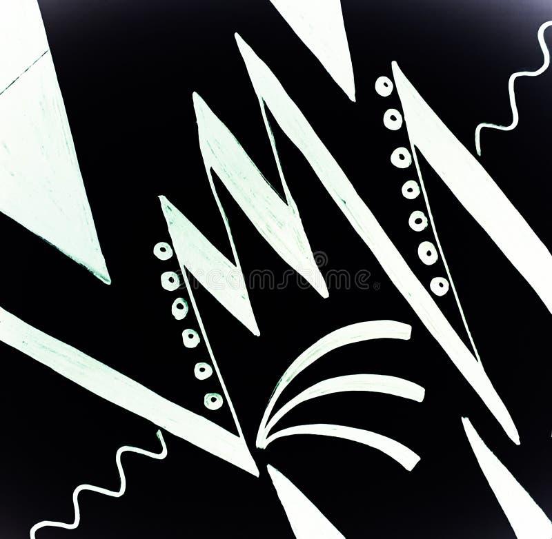 Diseño exhausto de la mano blanco y negro con los filos imagenes de archivo