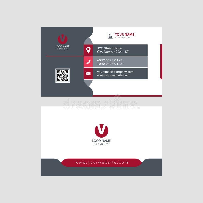 Diseño eyectching de la tarjeta de visita del profesional moderno, diseño del templeat de la tarjeta de visita ilustración del vector