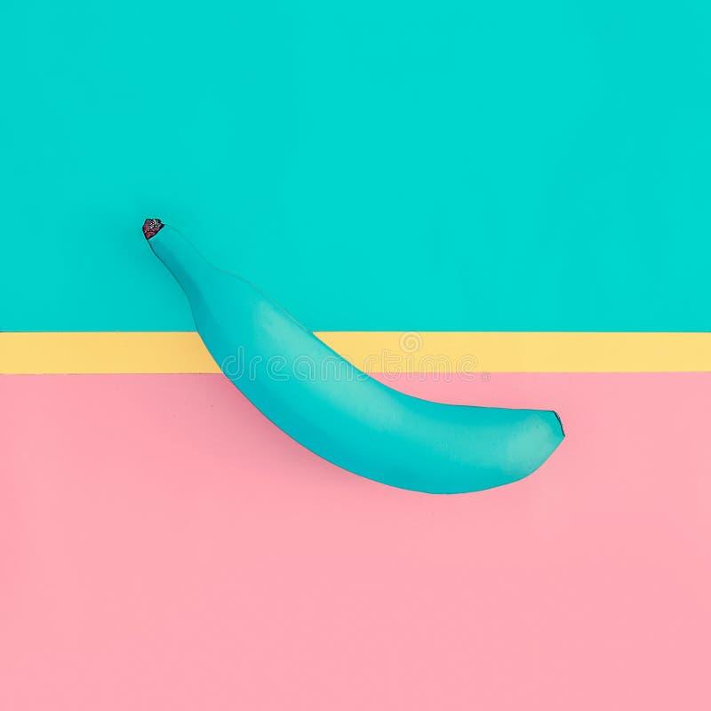 Diseño falso de la moda del plátano Fruta del estilo de la vainilla imágenes de archivo libres de regalías