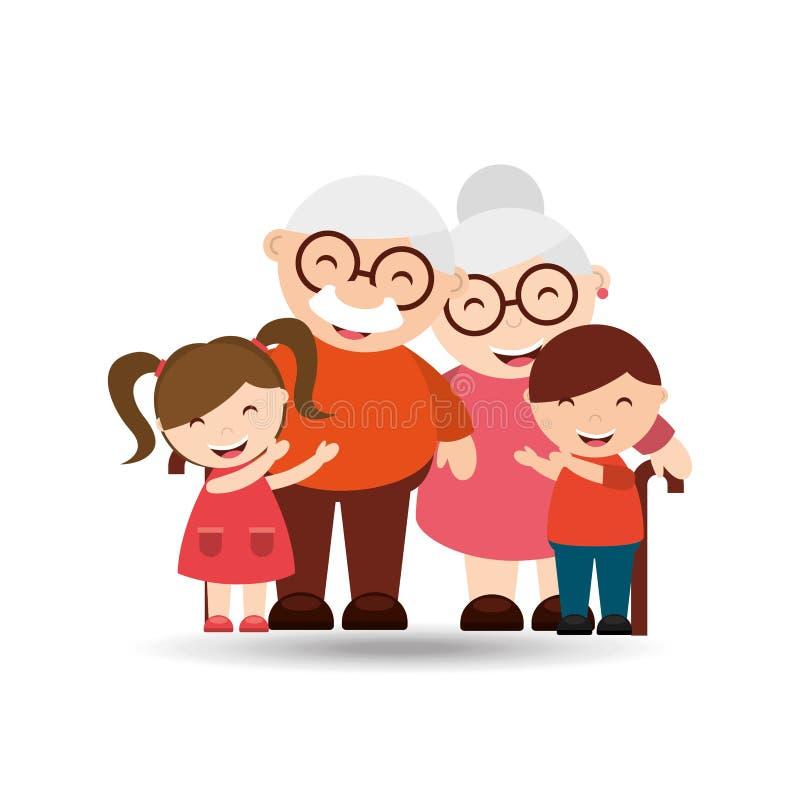 diseño feliz de los abuelos ilustración del vector