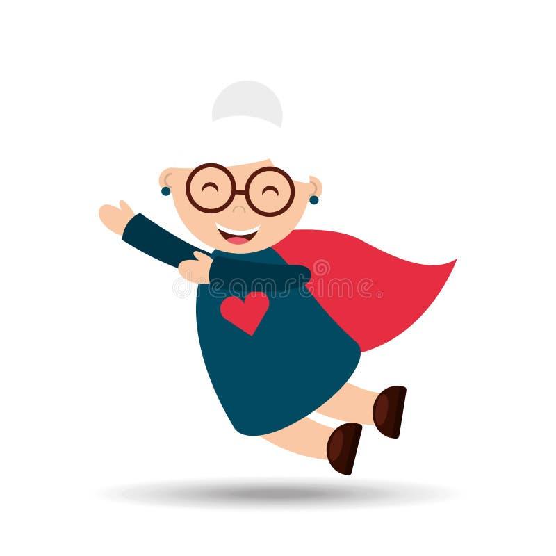 diseño feliz de los abuelos stock de ilustración