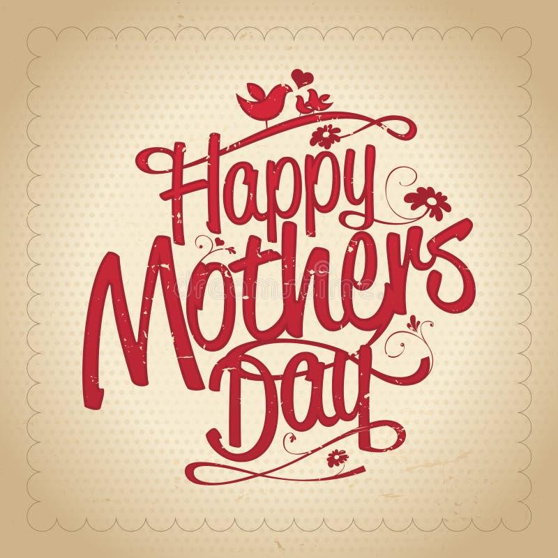 Diseño feliz del día de madres libre illustration