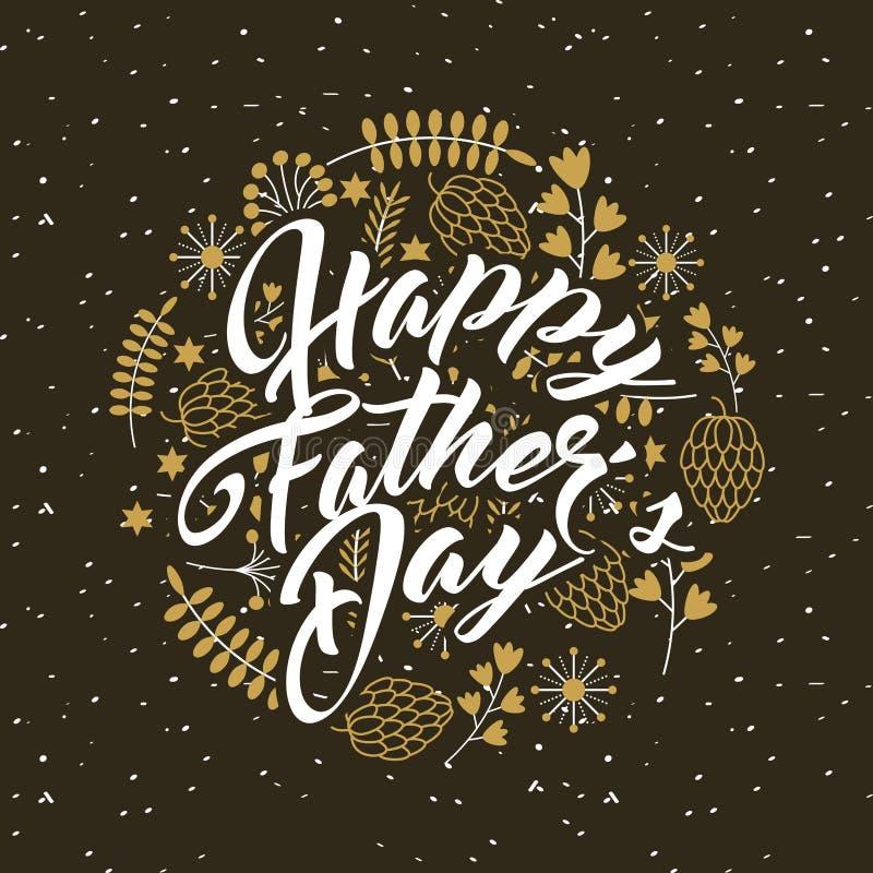 Diseño feliz del día de padre libre illustration