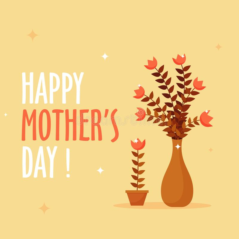 Diseño feliz del fondo de la celebración del día del ` s de la madre con BU de las flores libre illustration
