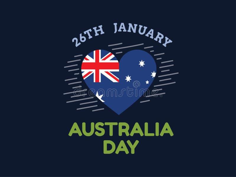Diseño feliz del vector del día de Australia stock de ilustración