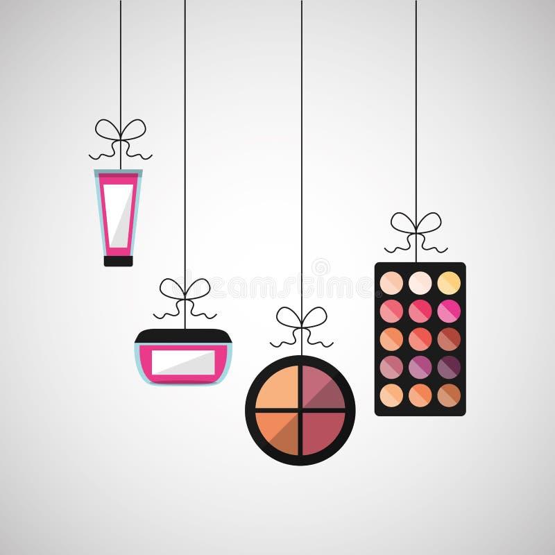 diseño femenino del maquillaje libre illustration