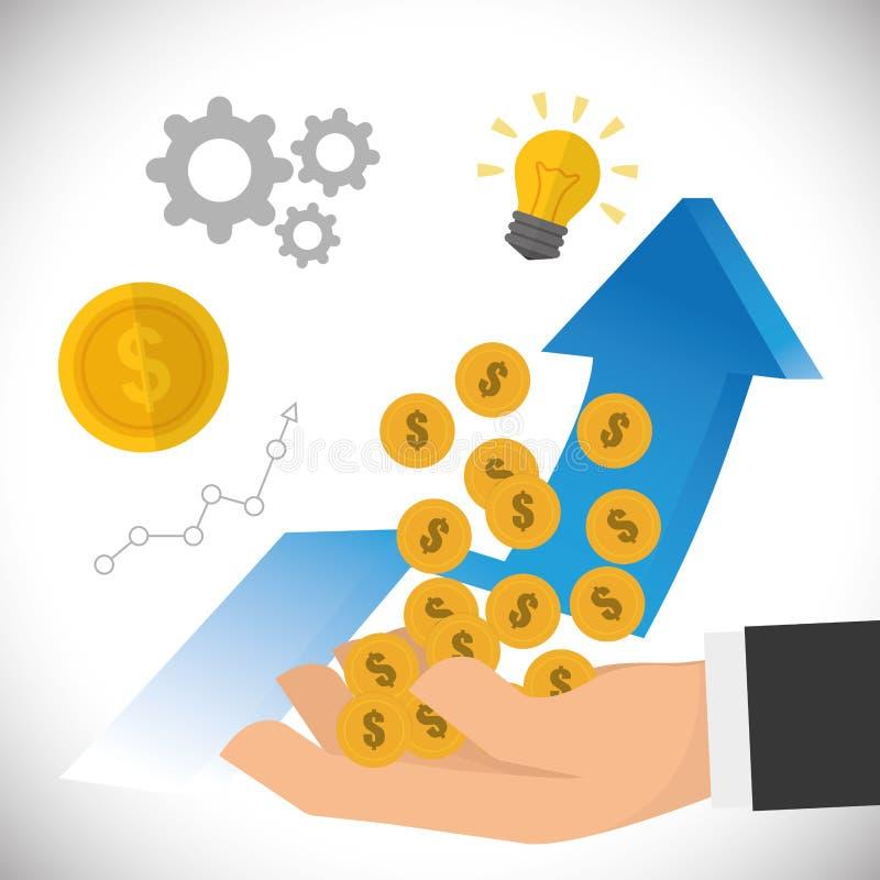 Diseño financiero del crecimiento libre illustration