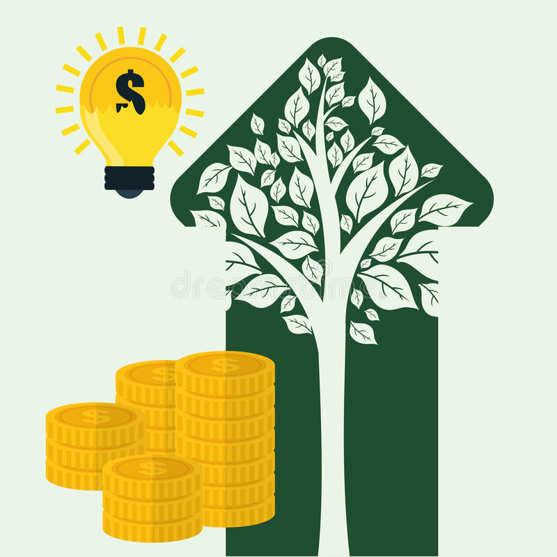 Diseño financiero del crecimiento ilustración del vector