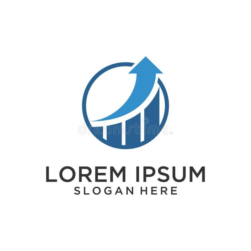 Diseño financiero del logotipo libre illustration