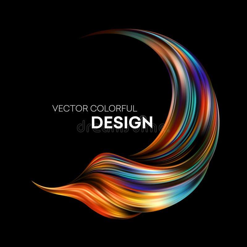 diseño flúido colorido abstracto 3d Ilustración del vector ilustración del vector