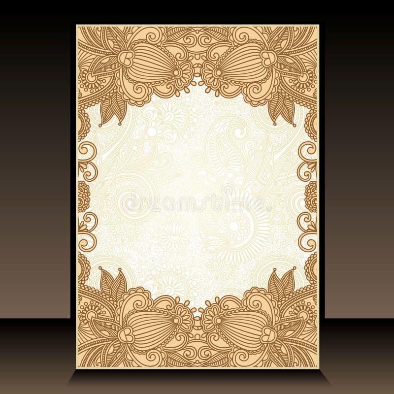 Diseño floral adornado de Flayer stock de ilustración