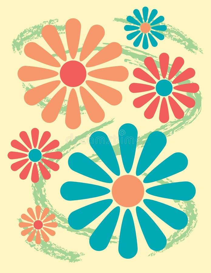 Diseño floral brillante stock de ilustración