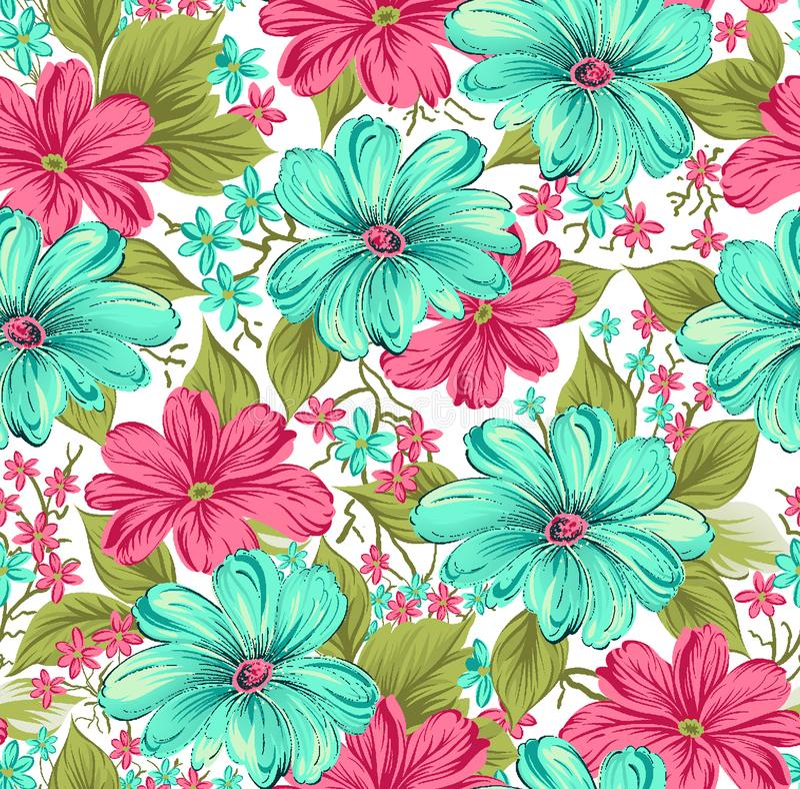 Diseño floral colorido tradicional inconsútil libre illustration