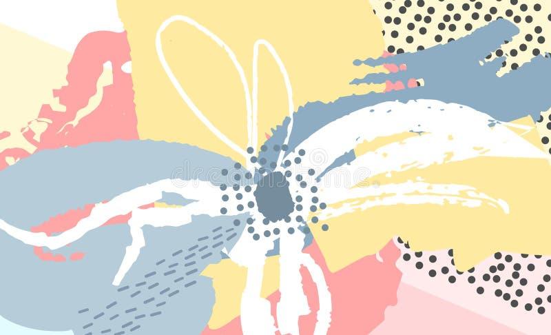 Diseño floral creativo del fondo libre illustration