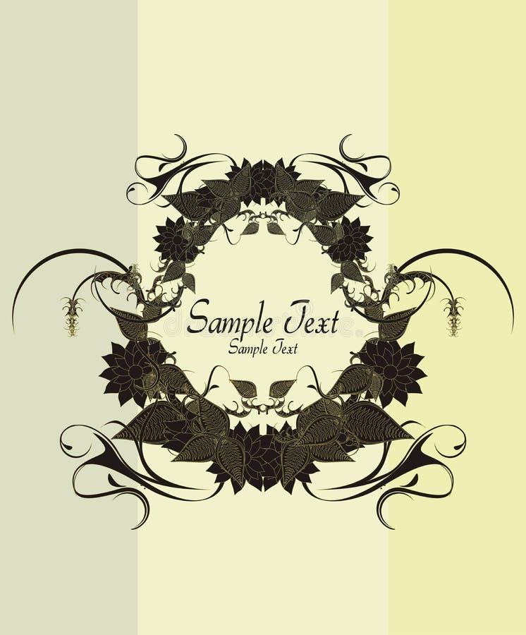 Diseño floral de la vendimia libre illustration