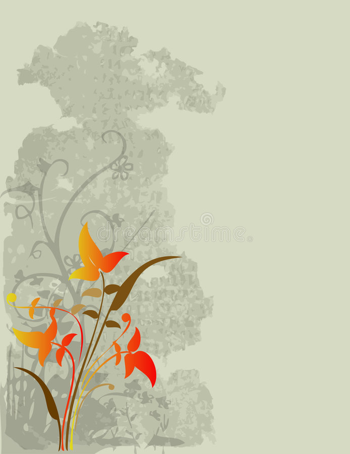 Diseño floral de las vides   ilustración del vector