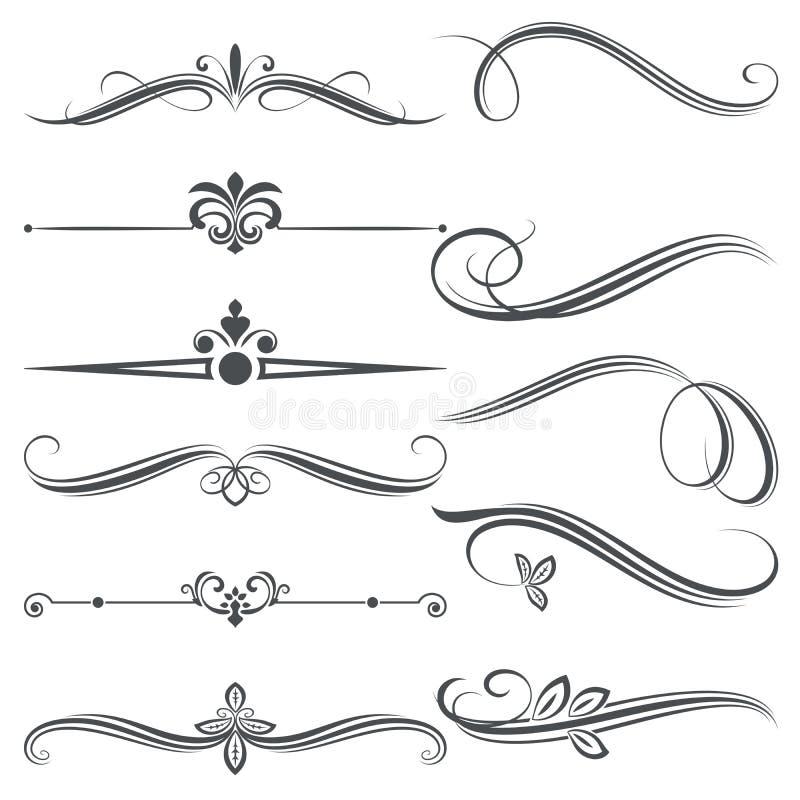 Diseño floral decorativo del divisor del vintage ilustración del vector