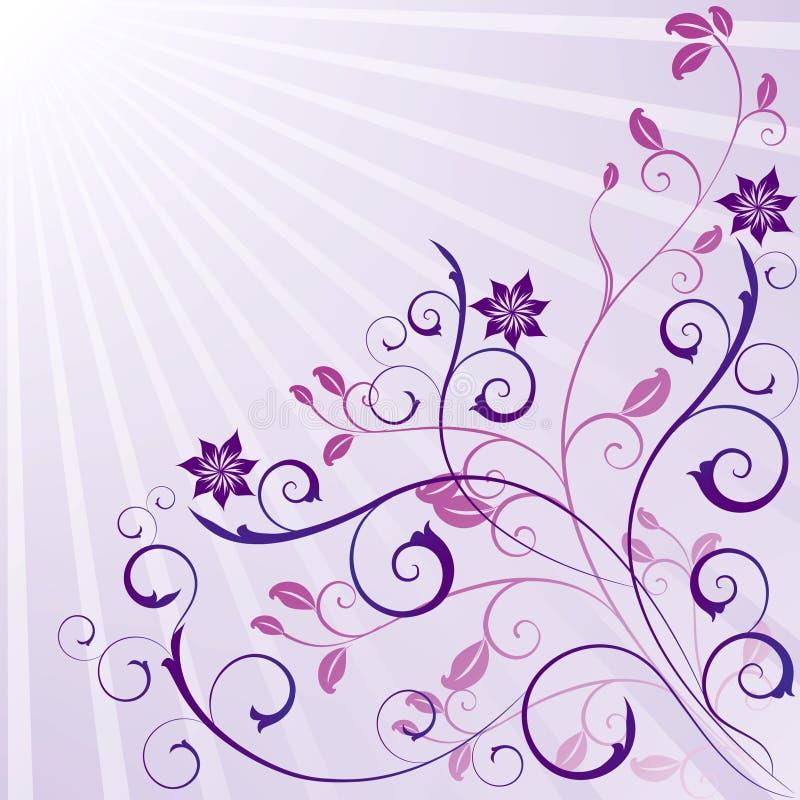 Diseño floral del desfile adornado de la belleza stock de ilustración