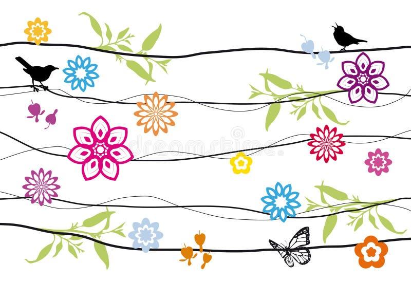 Diseño floral del fondo ilustración del vector