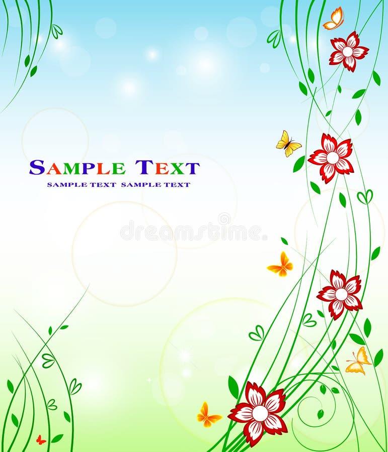 Diseño floral del fondo - belleza común de la decoración del arte stock de ilustración