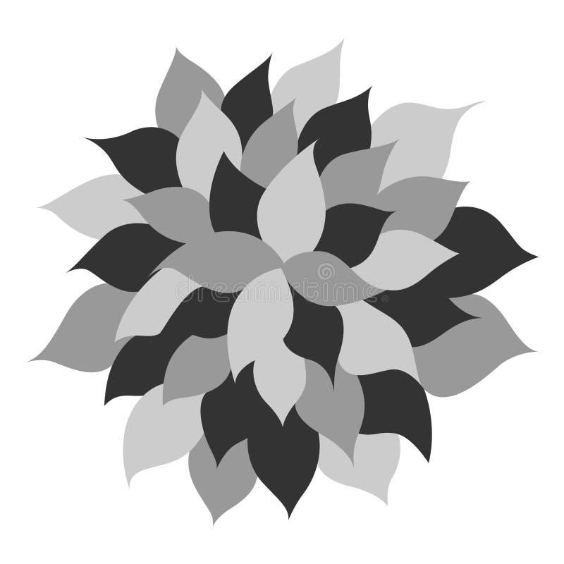 Diseño floral del vector de la muestra del símbolo del icono del logotipo de la flor del árbol de la hoja libre illustration