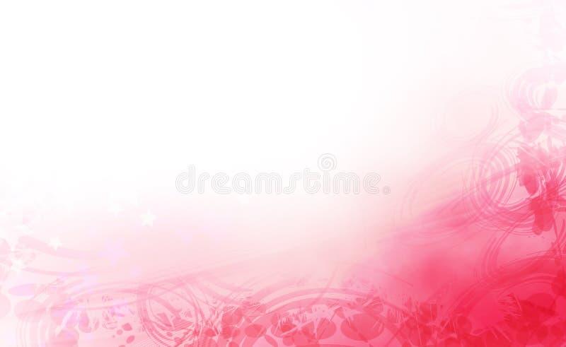 Diseño floral descolorado foto de archivo