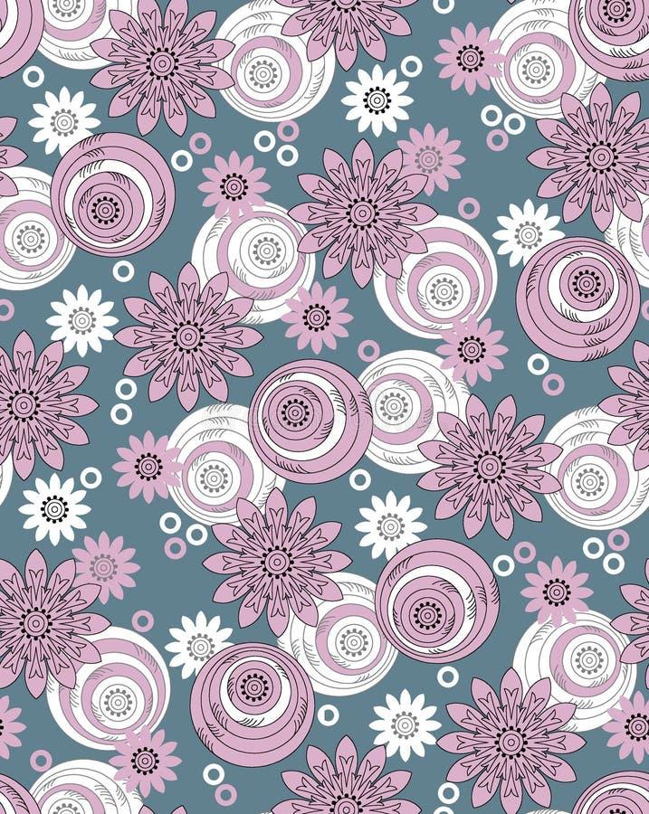 Diseño floral geométrico del vintage inconsútil libre illustration