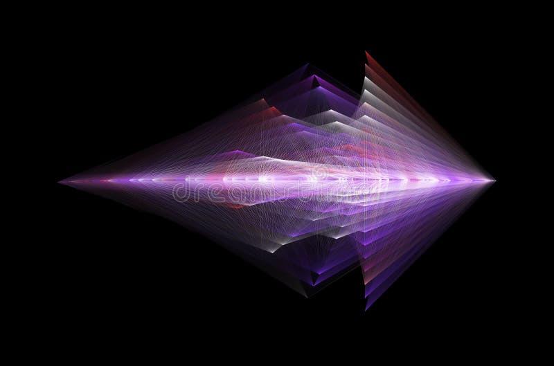 Diseño futurista abstracto, concepto para la tecnología extranjera ilustración del vector